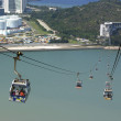 Cable car in Lantau, Hong Kong - Stock Photo