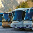 Buses in a parking — Stock Photo