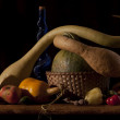 Autumn harvest composition — Stock Photo
