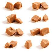 Caramelo piezas en blanco — Foto de Stock