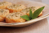 Cheese biscuits and mint — Stock Photo