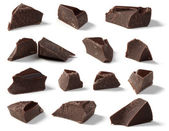 Dark Chocolate Chunks — Stock Photo