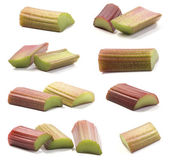 Pieces of rhubarb — Stock Photo