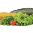 Fresh vegetables on white — Stock Photo