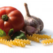 Pasta with tomato and garlic — Stock Photo #21933145
