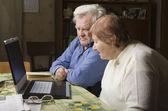Senior Couple with Computer — Stock Photo