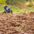 Tractor Ploughing on the Field — Stock Photo