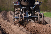 Soil preparation for sowing — Stock Photo