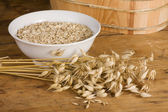 Oats and flakes — Stock Photo
