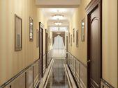 Hotel halle-rendering — Stockfoto