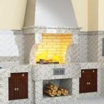 BBQ. Barbecue brick — Stock Photo