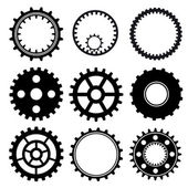 Set of gear wheels — Stock Vector