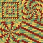 Set of four geometric pattern — Stock Vector