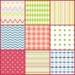 Set of nine colorful seamless patterns - Image vectorielle