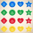 Set of buttons in different colors — Stock Vector #27102655