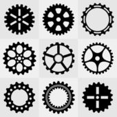 Set of gear wheels — Vettoriale Stock