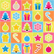 Multicolored holiday background. Seamless pattern — Stock Vector