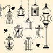 Set of vintage bird cages — Stock Vector #46258185