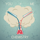 You and me it is chemistry. Chemistry of Love — Stok Vektör