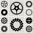 Mechanical Cogs and Gear Wheel Set — Stock Vector