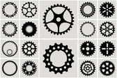 Mechanical Cogs and Gear Wheel Set — Vettoriale Stock