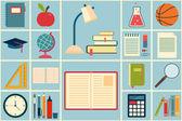 学校和教育的图标集 — 图库矢量图片