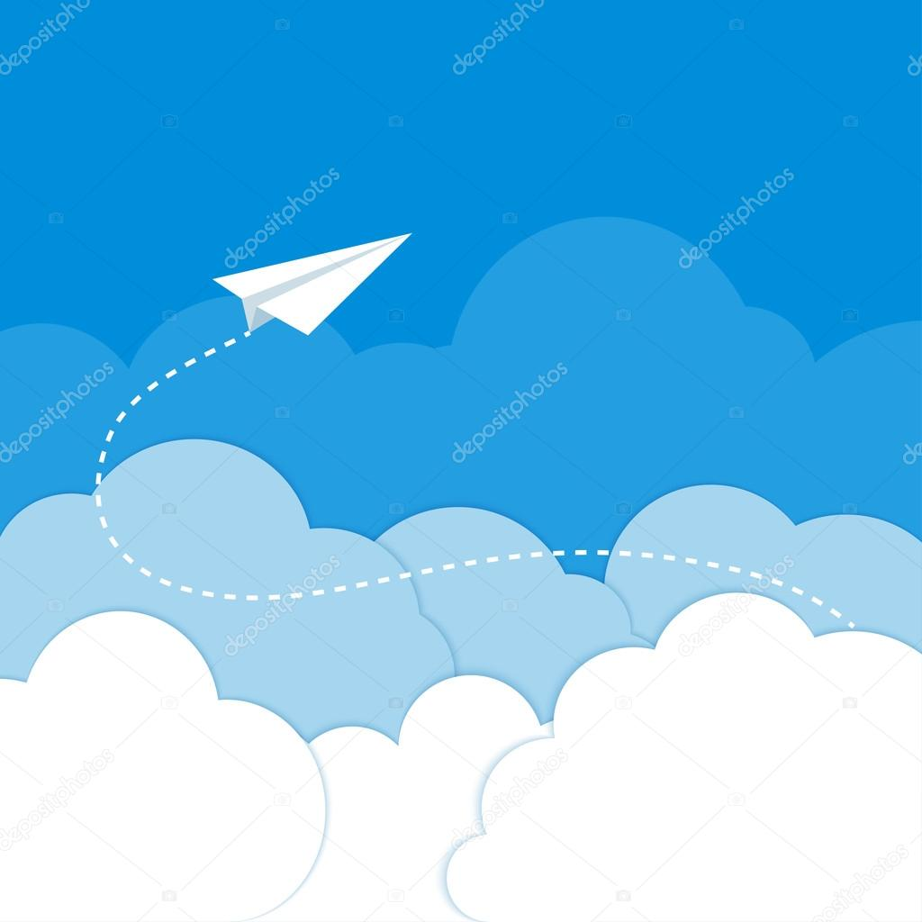 paper plane stock illustration - photo #22