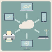 Cloud computing technology. Abstract background — Vetorial Stock