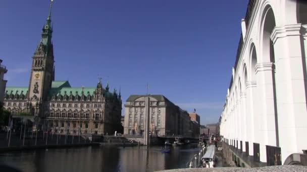 L'hôtel de ville de hambourg — Vidéo