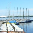 Mooring on the Alster — Stok fotoğraf