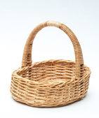 Vintage weave wicker basket isolated on white background — Photo