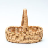 Vintage weave wicker basket isolated on white background — Foto de Stock