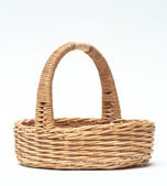 Vintage weave wicker basket isolated on white background — Stock Photo