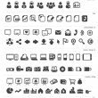 100 Icon set - Stock Vector