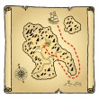 Treasure map — Stock Vector