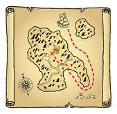 Mapa del tesoro — Vector de stock