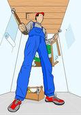 Home improver — Stock Vector