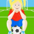 Stock Vector: Soccer girl