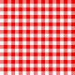 Red white plaid tablecloth — Stock Vector