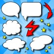 Comic style speech bubbles - Imagen vectorial