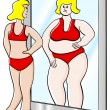 Thick and thin woman — Imagen vectorial