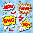 Cartoon text explosions — Stock Vector #25672921