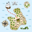 Stock Vector: Treasure map