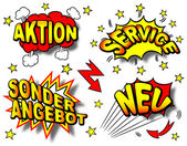 German Cartoon labeling — Stock Vector