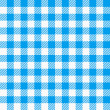 Blue white plaid tablecloth — Stock Vector