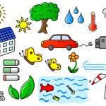 Environmental pollution and green energy icon set — Stock Vector #26566515