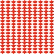 Seamless diamond pattern in red and white — Stock Vector #28188883