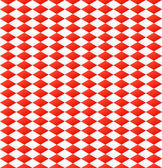 Seamless diamond pattern in red and white — Stock Vector