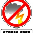 Stock Vector: Stress free sign