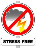 Stress free sign — Stockvektor